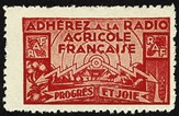 Adherez a la Radio Agricole Francaise (rot) Allerlei