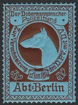 Berlin 1914 Der Dobermannpinscher Polizeihund (WK 01)