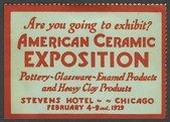 Chicago 1929 Are You Going American Ceramic Exposition