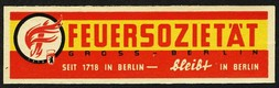 Feuersozietat Gross - Berlin seit 1718 in Berlin