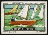Nestle Serie VII No 02 Sports Voile Yachting Schoko