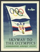 Olympiade 1952 Oslo Helsinki SAS Skyway to the Olympics Sport