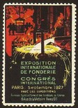 Paris 1927 Exposition Fonderie