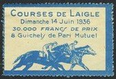 Paris 1936 Courses de l'Aigle